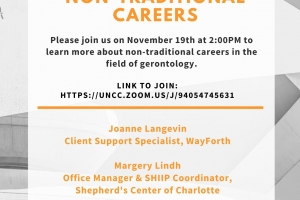 November Careers in Gerontology Panel:  Non-Traditional Careers